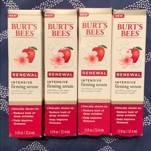 FOUR Burts Bees intensive firming serums.